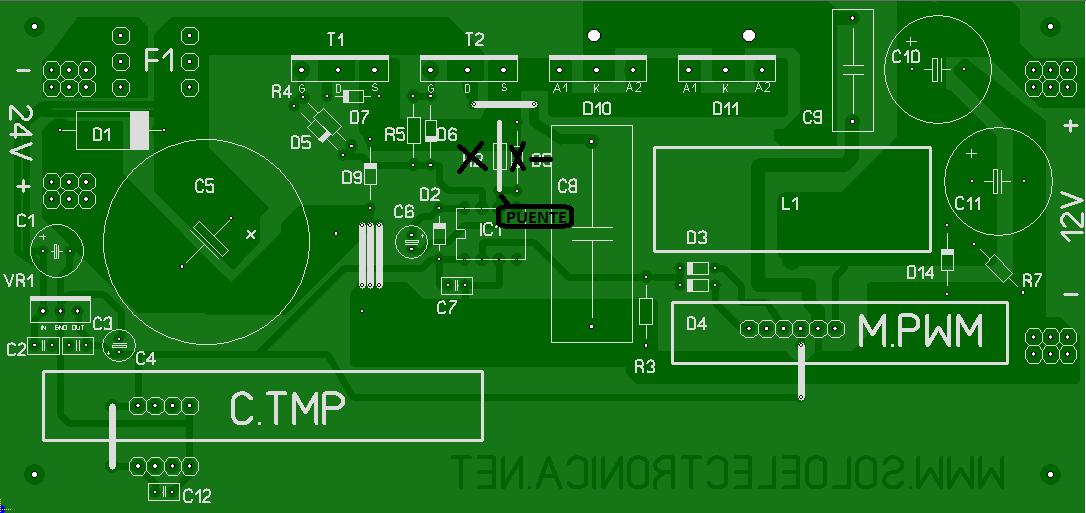 Circuito Impreso De Amplificador De 3000w : De v a w