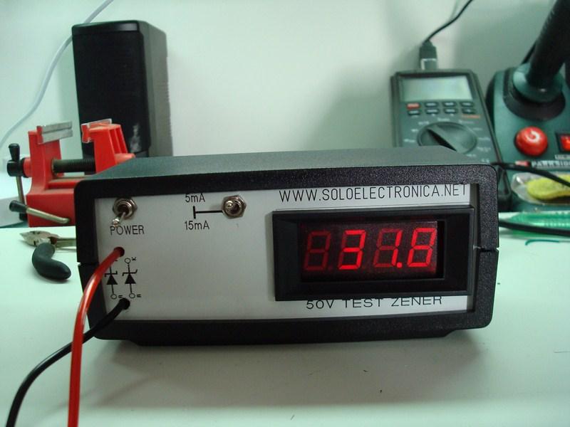 Circuito Zener : V test zener